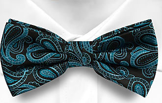 Pre tied bow tie - Red Paisley drops - Notch PUCK Notch