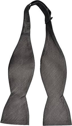 Self tie bow tie - Solid grey with small grid pattern Notch