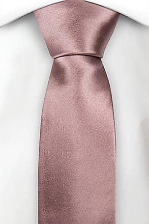 Boys tie medium - Woven Jacquard silk in solid dark pink Notch