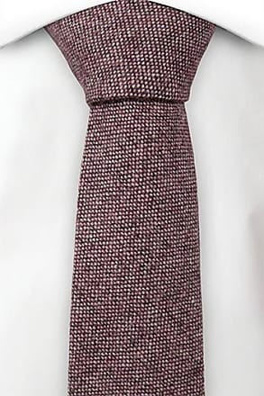 Necktie - Semi-solid mix of burgundy and off-white Notch