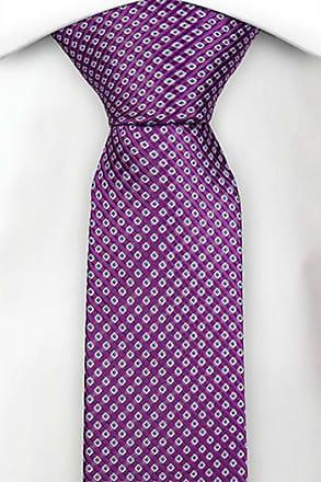 Slim necktie - Ribbed weave, broad stripes in blue and dark pink Notch