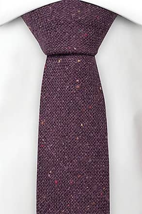 Necktie - Solid purple with red, yellow & green specks Notch