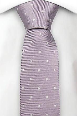 Boys tie medium - Pale green linen Chambray & small white dots Notch