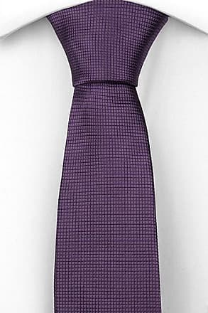 Bow tie untied from Tieroom, Notch CHICO, checked structure in solid dark purple Notch