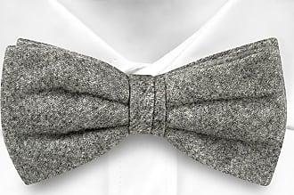 Wool Pre tied bow tie - Light blue stripes on a black base - Notch ROD Notch