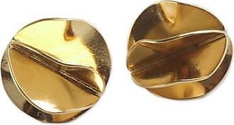 Novica Gold vermeil button earrings, Golden Petals