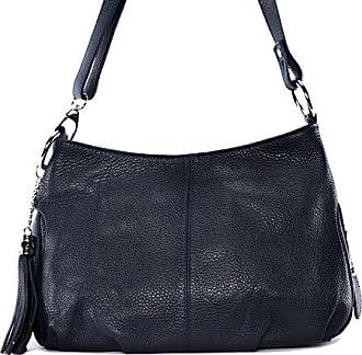 Leder Damen Handtasche - Tragbar als HANDTASCHE UND SCHULTER - Modell LOBE - Genarbtes Leder O My Bag