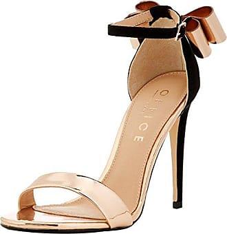 Office Hip, Zapatos de Tacón con Punta Abierta para Mujer, Rosa (Peach Crystal 76687), 41 EU