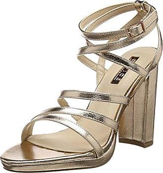 Office Wonder, Zapatos de Tacón con Punta Abierta para Mujer, Rosa (Rose Gold 92527), 36 EU