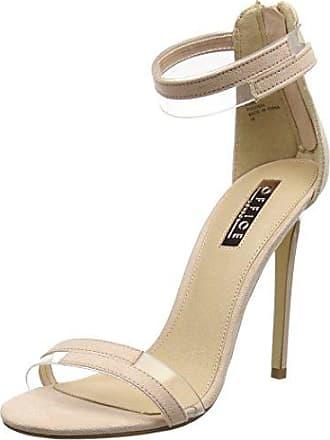 Howie, Zapatos de Tacón con Punta Cerrada para Mujer, Beige (Nude Patent 86046), 38 EU Office
