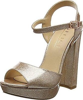 Office Hunk, Zapatos con Plataforma para Mujer, Rosa (Rose Gold Patent Glitter 95050), 41 EU