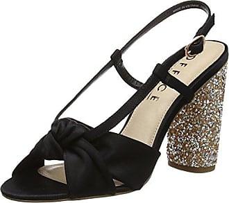 Majestic, Scarpe col Tacco con Cinturino Dietro la Caviglia Donna, Nero (Black 00000), 41 EU Office