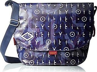 Oilily Lori Shoulderbag Lhf, Sacs bandoulière femme, Blau (Dark Blue), 24x29x40 cm (B x H T)