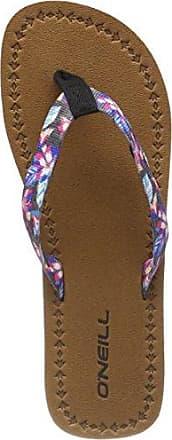 O'Neill Damen FW Woven Strap Flip Flops Zehentrenner, Schwarz (9940 Black AOP W/Pink), 36 EU