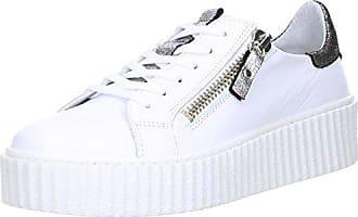 ONLINE SHOES Damen Sneaker Plateau Reptil Schlangenoptik Silber, Größe:40, Farbe:Silber