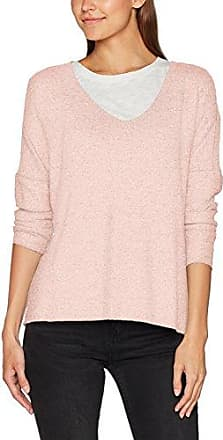 Only Onlphilu L/S V-Neck Pullover KNT Noos, Suéter para Mujer, Rosa (Peachy Keen), 42 (Talla del Fabricante: X-Large)
