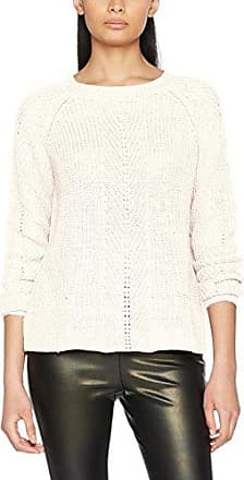 Only Onljosephina L/s Lace Up Pullover Knt, Suéter para Mujer, Blanco (Bright White), 40 (Talla del Fabricante: Large)