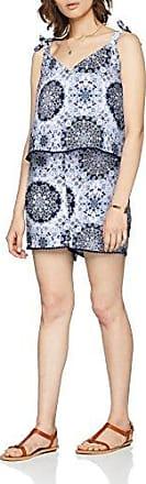 Only Onlsummer Strap Playsuit Wvn, Mono Corto para Mujer, Multicolor (Bright White Haute Red Riviera Mandala), 36 (Talla del fabricante: 34)