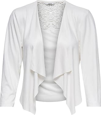 Wildlederimitat Jacke Dames White Only