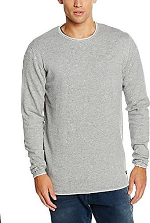 onsGARSON NAPS CREW NECK KNIT NOOS, suéter Hombre, Gris (Medium Grey Melange), Large Only & Sons