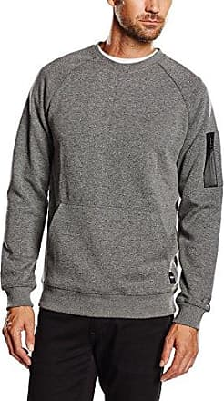 Spot Crew Neck Noos-Suéter Hombre, Dark Grey Melange, Large Only & Sons