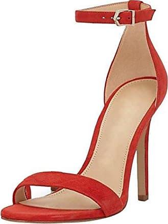 SHOWHOW Damen Cut-Out High Top Peep Toe Römersandalen mit Stiletto Rot 39 EU