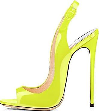af97c865883b Damen Pumps Sandalen Spitze Zehen High-Heels Stiletto Slingback Gold Absatz  Rosa EU46 Onlymaker Rabatt