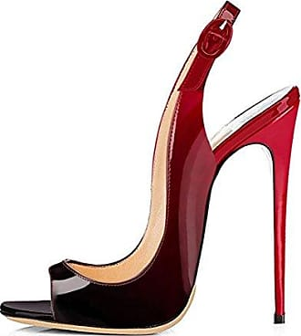 SHOWHOW Damen Peep Toe Platform High Heels Pumps Sandalen