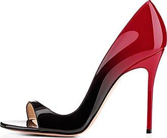 SHOWHOW Damen Sexy Party Schuh High Heels Peep Toe Pumps Sandale Schwarz 35 EU