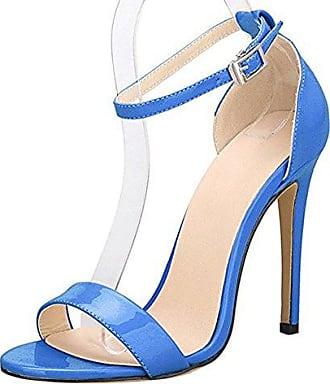 Damenschuhe Open Toe Mehrfarbig Sandalen High-Heels Stiletto Riemchen Samt Grün EU41 Onlymaker