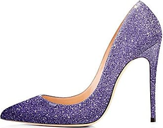 Zanpa Damen Pumps Ladies Glitter36.5 EUBlue