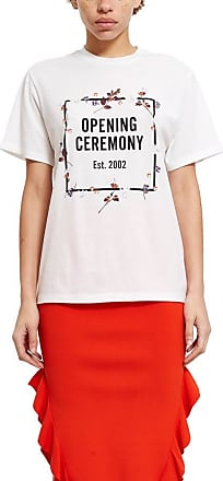 Opening Ceremony floral border logo T-shirt
