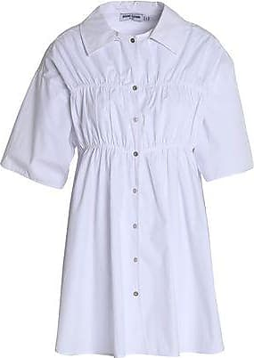 Opening Ceremony Woman Flared Gathered Cotton-poplin Shirt White Size 6 Opening Ceremony