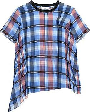Opening Ceremony Woman Checked Gathered Crepe Top Multicolor Size 8 Opening Ceremony