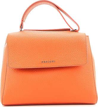 Top Handle Handbag, Orange, Leather, 2017, one size Orciani