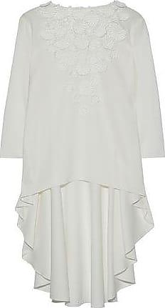 Oscar De La Renta Woman Lace-trimmed Silk Crepe De Chine Blouse White Size 4 Oscar De La Renta