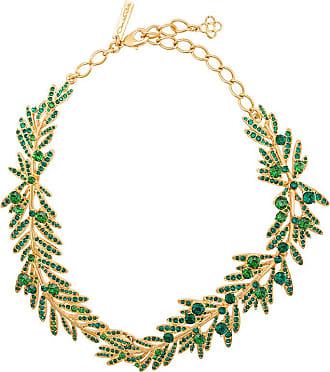 tropical palm necklace - Green Oscar De La Renta