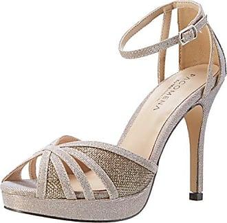 Juliet - Zapatillas de Material Sintético para mujer Dorado plateado 36, color Negro, talla 37