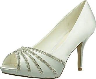 Zapato Encaje Lazo Raso - Zapatos de Vestir para Mujer, Color Azul, Talla 39 Paco Mena