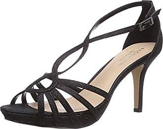 Truffle - Sandalias de vestir de sintético para mujer, color negro, talla 5 UK
