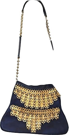 Paco Rabanne Vintage 1960s Leather Bag With Gold Disks