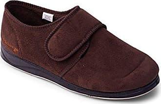 Herren Padders Lewis marineblau oder grau Pantoffeln breit G PASSFORM
