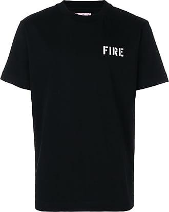 Gestreiftes T-shirt Aus Glänzendem Jersey - Schwarz Palm Angels