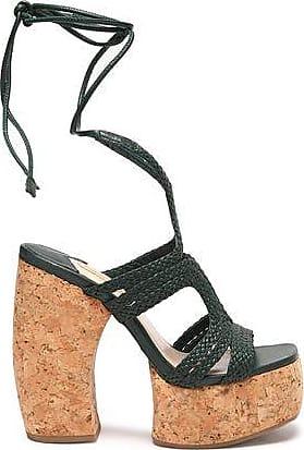 Paloma Barceló Paloma Barceló Woman Lace-up Suede Sandals Dark Size 37