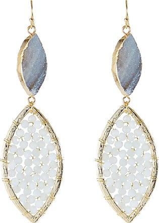 Panacea Double Marquise Drop Earrings