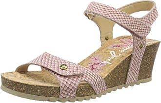 PANAMA JACK Julia Snake - Damen Schuhe Sandaletten - b4-charolgrey, Größe:38 EU