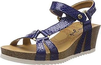 Violetta Tropical, Sandales Bout Ouvert Femme, Bleu (Marino), 39 EUPanama Jack