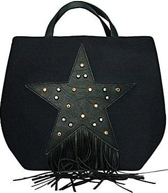 Damen Henkeltasche, schwarz - schwarz - Größe: 50x37x22 Paola T.