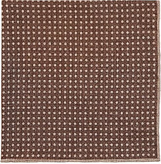 Mens Dotted & Checked Wool-Cotton Pocket Square Paolo Albizzati