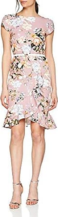 Womens Pretty Rose Flute Frilll Cream Belt Dress Paper Dolls